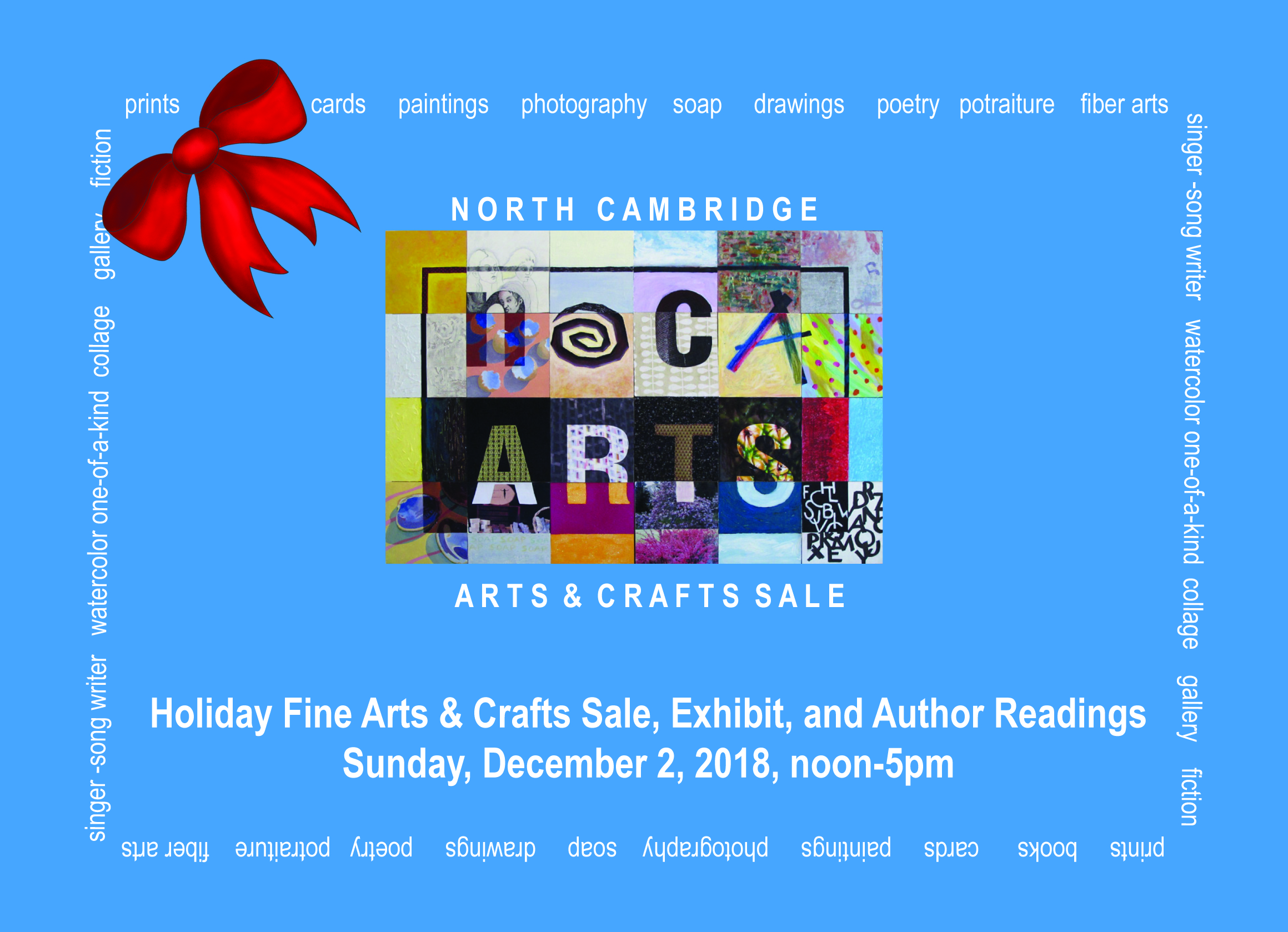 North Cambridge arts and crafts sale poster