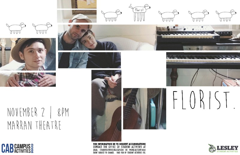 Poster for band named Florist coming to campus
