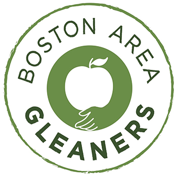 A round logo with an apple in the center and the words Boston Area Gleaners surround it.