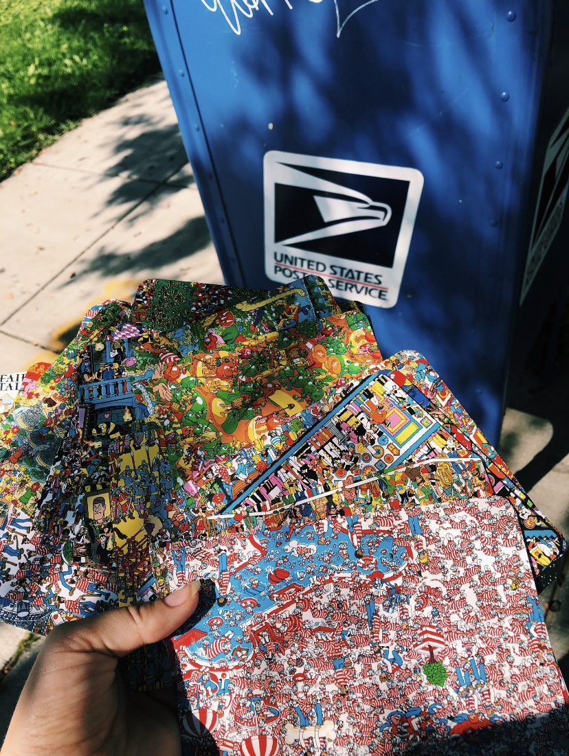 Carolyn Acquaviva '20 is sending postcards to her new students