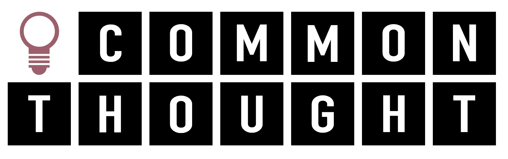 A logo of Commonthought - has a light bulb and then common thought spelled out in two lines.