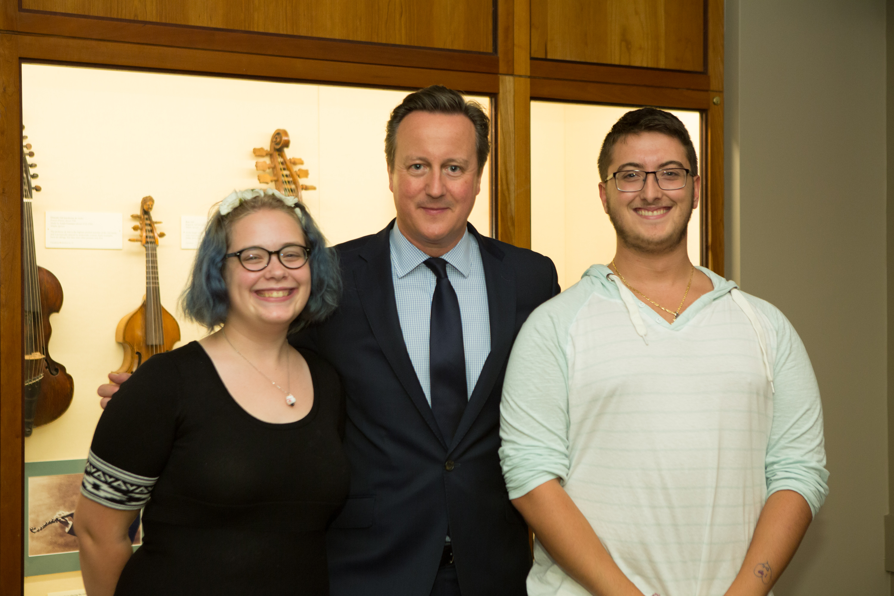 David Cameron, Camryn Vevilacqua, and Jonathan Cunha posing together for a picture