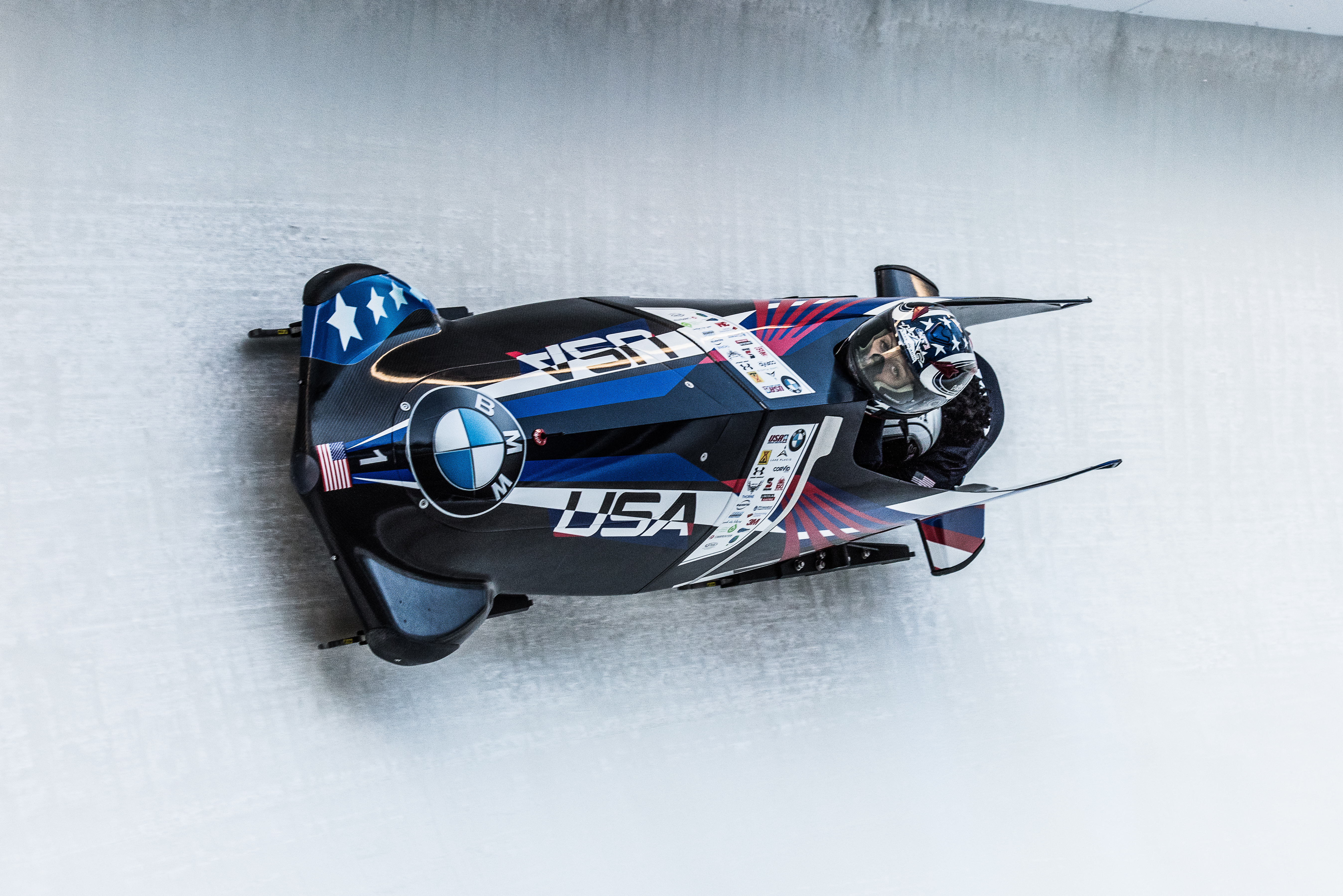 Jamie Greubel Poser races Olympic bobsled