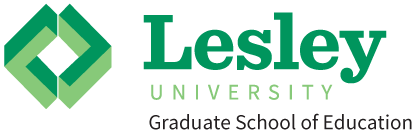 Lesley logo with other content too close - example of what not to do