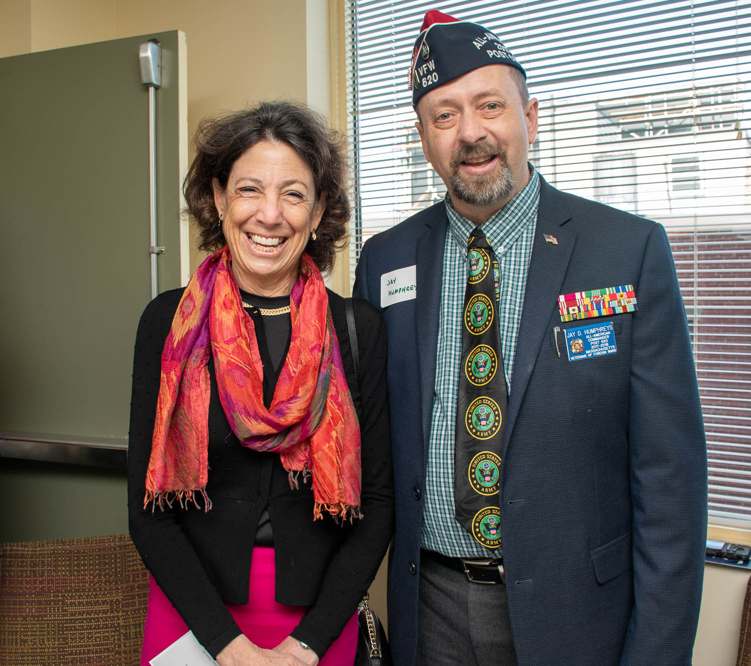 President Janet L. Steinmayer and Jay Humphreys of VFW Post 620