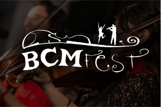 The Boston Music Festival logo with an image of a violinist.