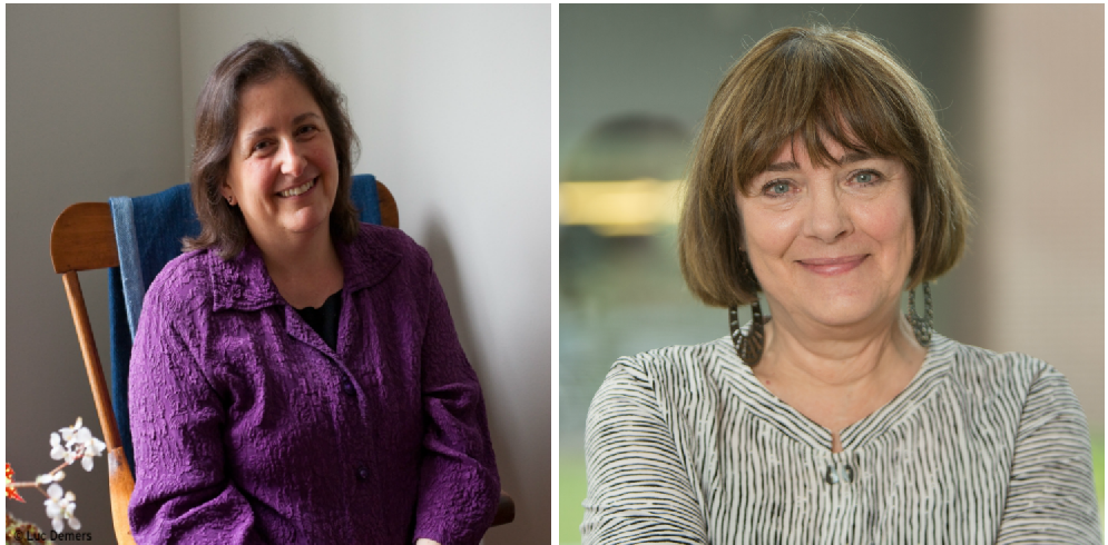Faculty headshots of Jane Brox and Kate Snodgrass from left to right