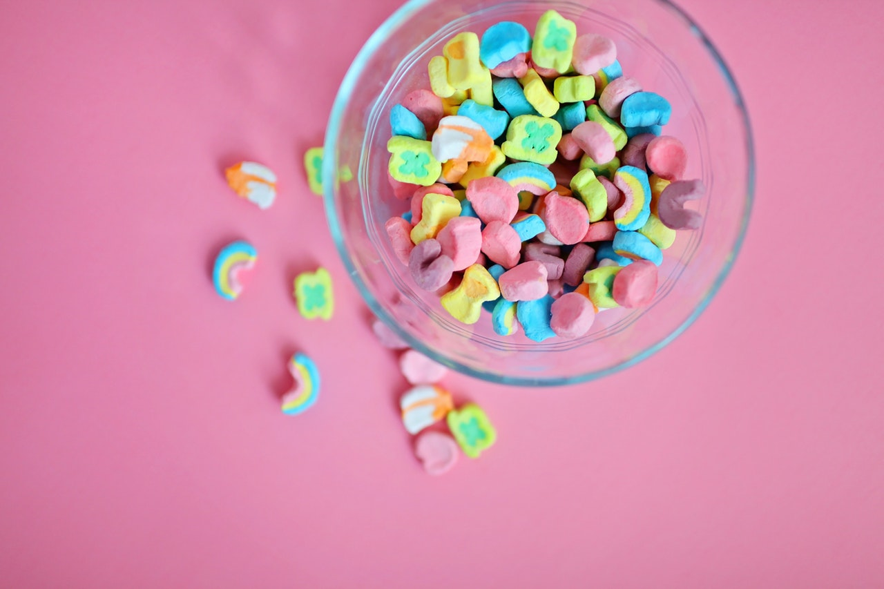 Photograph of sugar cereal marshmallows