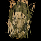 photo of soldier is printed on dried sea grass