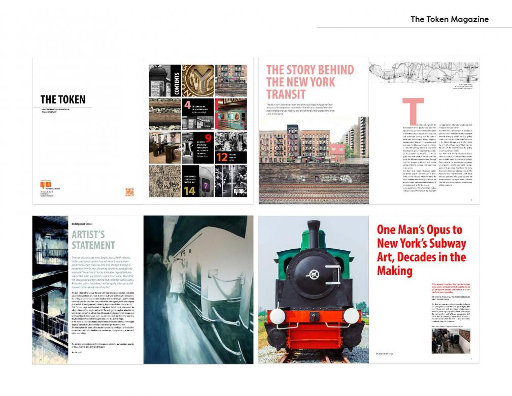 magazine layout design about New York transit line