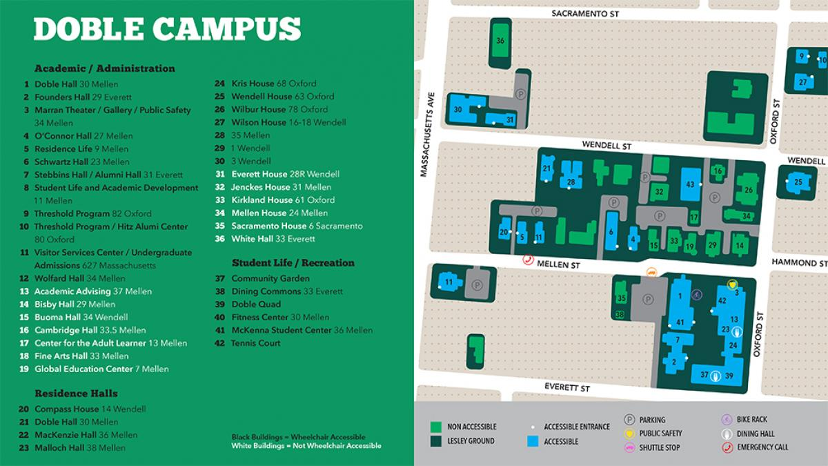 lesley university campus map Mapping Lesley Lesley University lesley university campus map