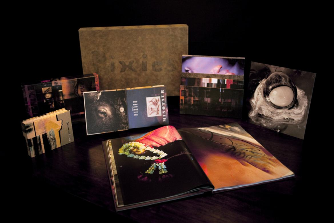 boxset of record collection by the band PIXIES