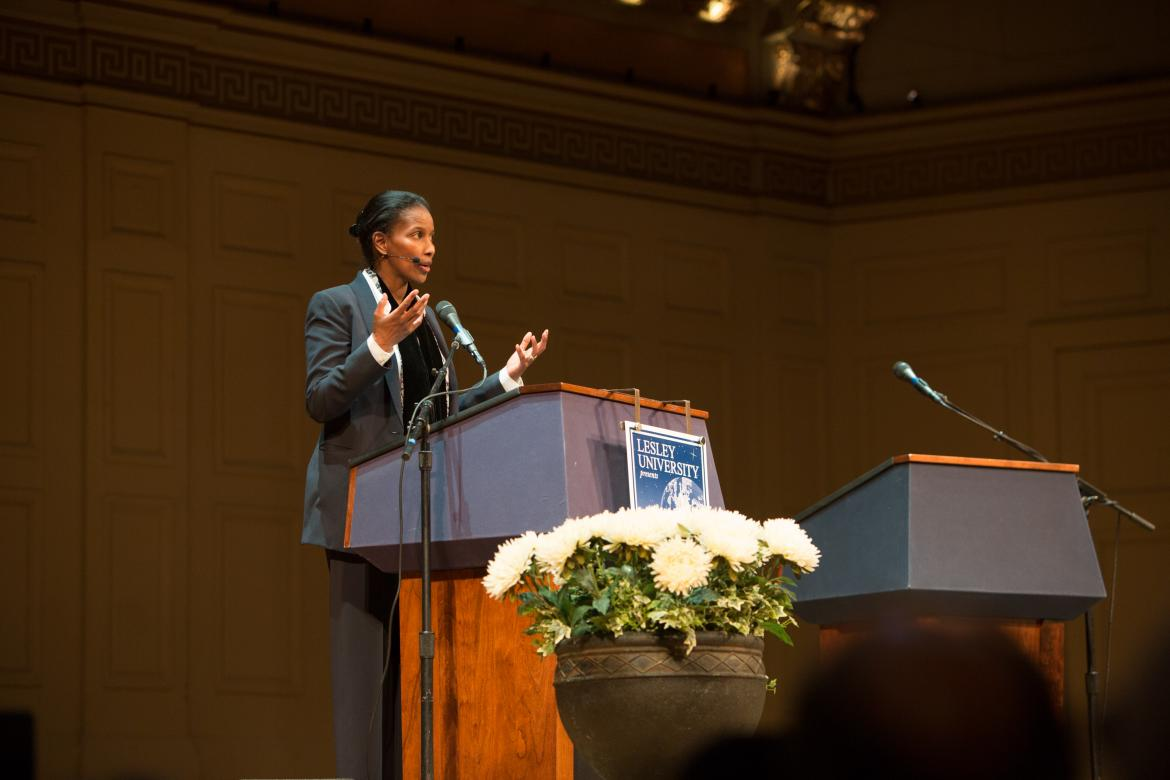 Ayaan Hirsi Ali speaking on stage
