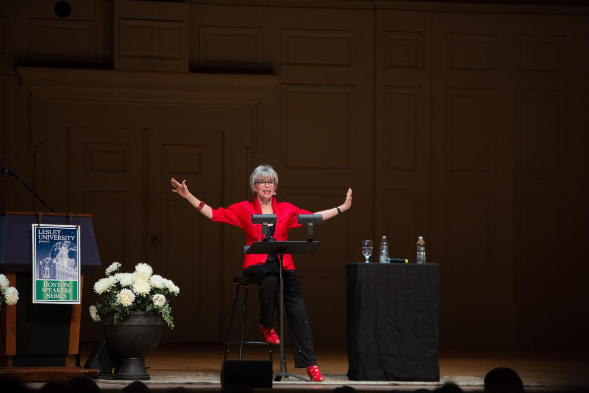 Rita Moreno performing on stage