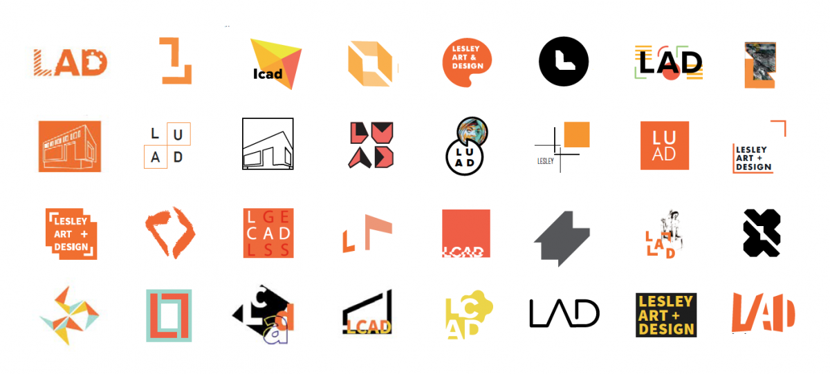 full color logo marks for the college of art and design