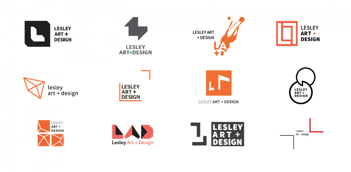 refined color logo mark options for the college of art and design