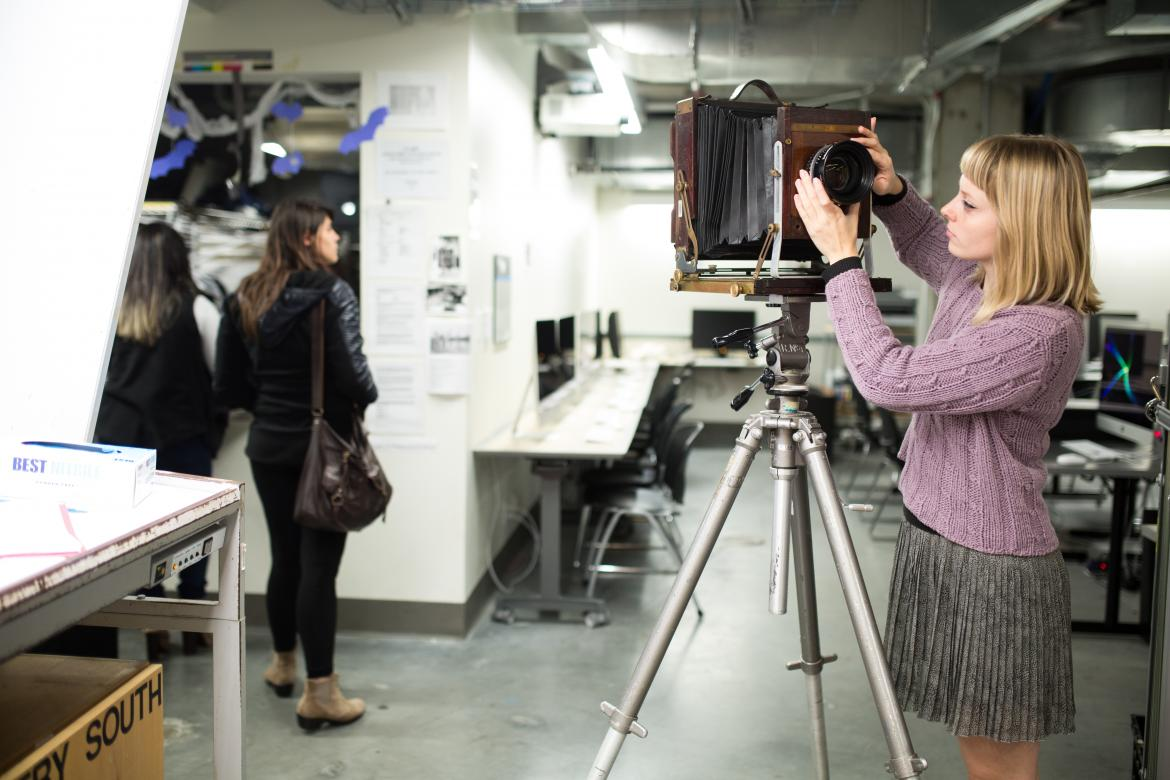 Lunder Arts Center Photography Lab