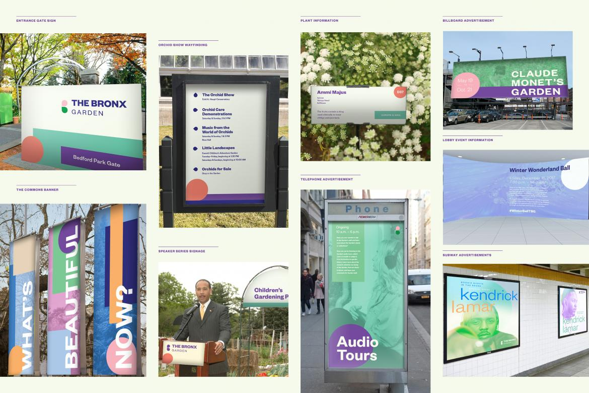 brand mock up on bus stops and large billboards