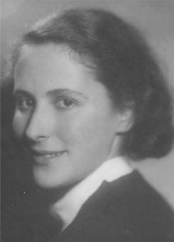 Black and white photo of Caroline Heller's mother, Liese
