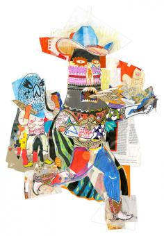 Keith Maclelland cowboy monster collage