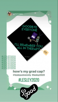 cap-decorations-goodbye-everyone-Lesley2020