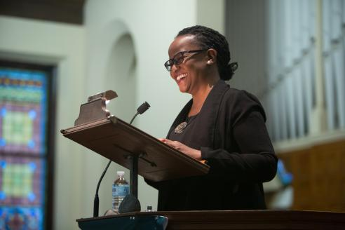 Edwidge Danticat speaking