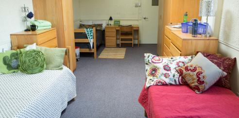 Doble Hall dorm room