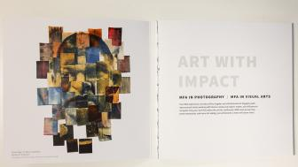 Promotional brochure for the MFA programs