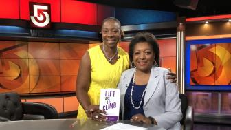 Jackie Glenn with the host of CityLine at the station