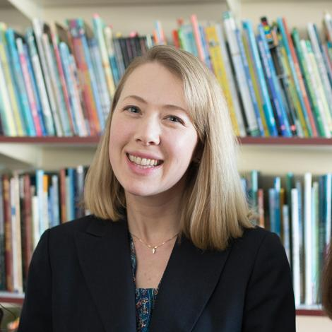 Professor Erika Dawes in her office