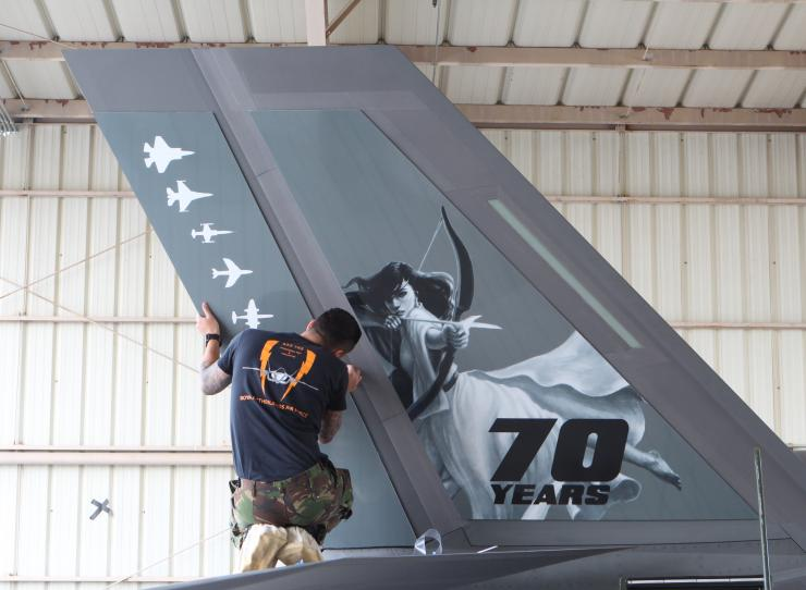 Christy Tortland's image of Diana is applied to the F-35