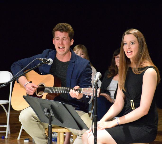 Evan and Audrey Grubb performing at a This is My Brave show