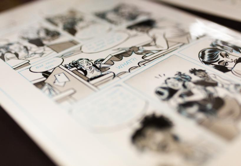 close up photo of comic book illustrations