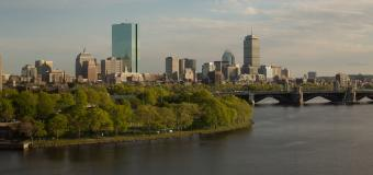 Boston skyline during the daytime along the Charles River