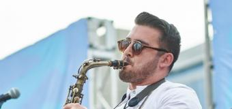 Devin Ferreira playing the saxophone