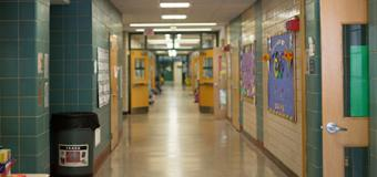 Empty hallway in elementary school