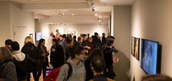 vandernoot gallery during crowded opening