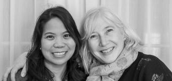 Grace Enriquez and Mary Ann Cappiello headshot in black and white