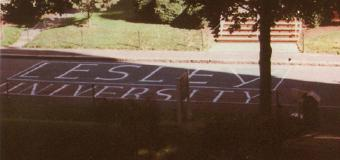 lesley university largely written in chalk