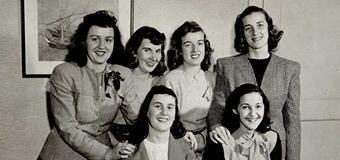 old photo of six lesley women