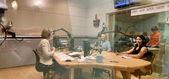 Hilary Kreisberg and hosts in the WBUR studio
