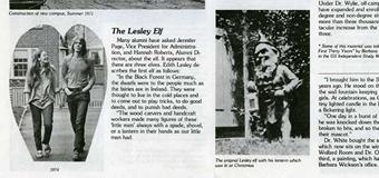 Lesleyan article about Lesley's gnome mascot