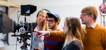 digital filmmaking instructor guiding students