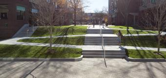 Lesley University's Doble Campus quad