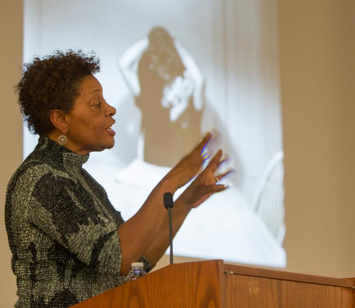 Carrie Mae Weems speaking