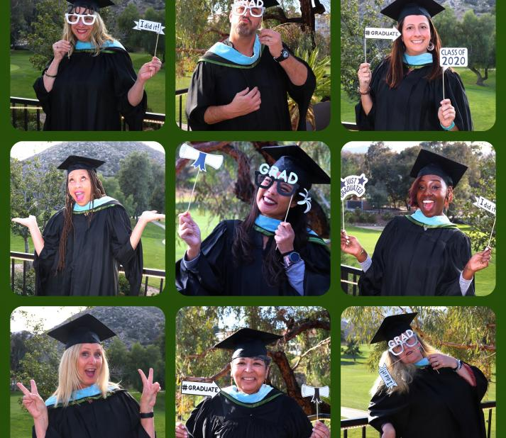 Compilation photo of Temecula graduates dressed in their regalia