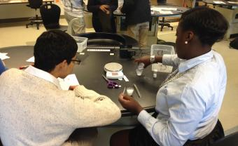 Willems classrom with students at lab table