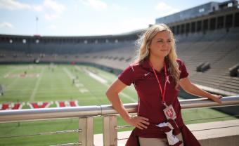 McKeena Straube at the Harvard Stadium