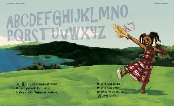 "Cover of Michael Talbot's illustrated book ""Jamaican Mi Seh Mi ABC's"""