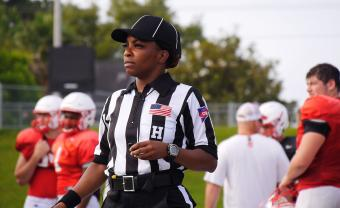 "Football referee Tangela Mitchell from the documentary ""Her Turf"""